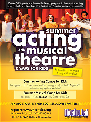 Theatre Lab Kids Camp ad