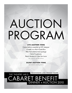 Cabaret auction cover