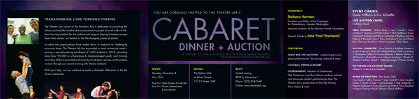 Cabaret Invitation inside